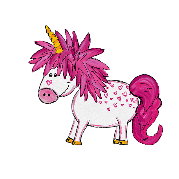 Hand Drawn Unicorns Sticker Pack messages sticker-3