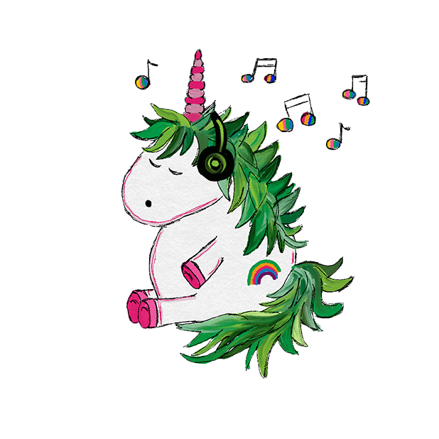 Hand Drawn Unicorns Sticker Pack messages sticker-5