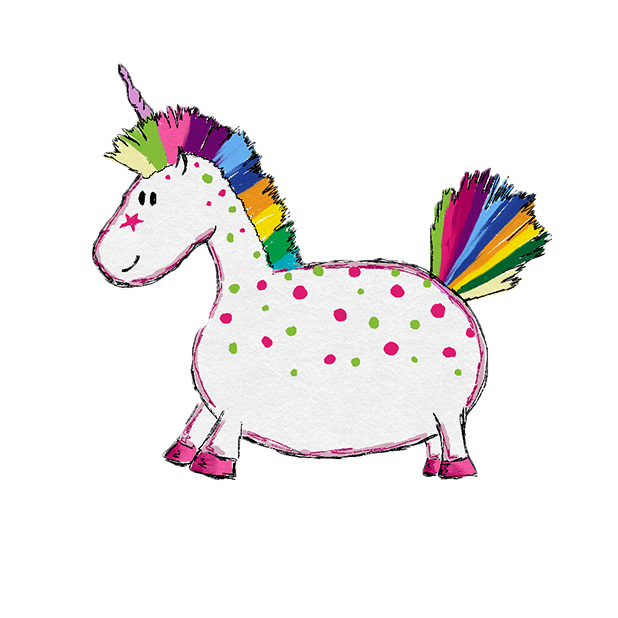Hand Drawn Unicorns Sticker Pack messages sticker-1