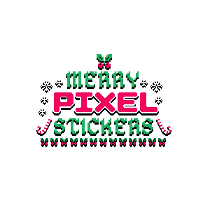 Merry Pixel Stickers messages sticker-11