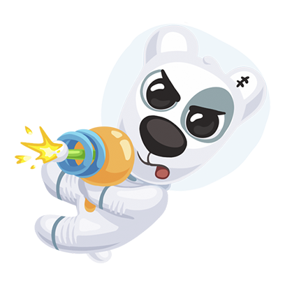 Puppy In Space Stickers Pack for iMessage messages sticker-10