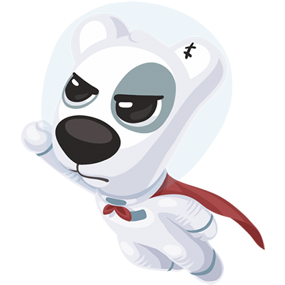 Puppy In Space Stickers Pack for iMessage messages sticker-3