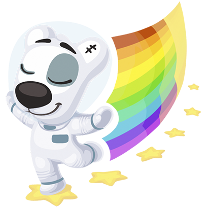 Puppy In Space Stickers Pack for iMessage messages sticker-2