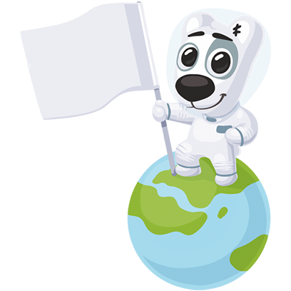Puppy In Space Stickers Pack for iMessage messages sticker-11