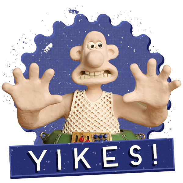 Wallace and Gromit Stickers messages sticker-7