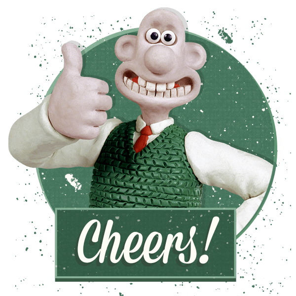 Wallace and Gromit Stickers messages sticker-2