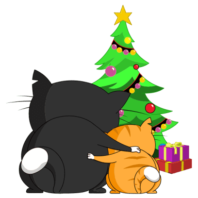 Silly Darn Cat (Christmas) messages sticker-6