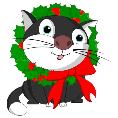 Silly Darn Cat (Christmas) messages sticker-0