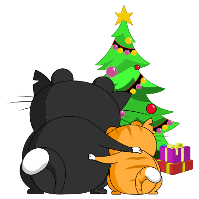 Silly Darn Cat (Christmas) messages sticker-5
