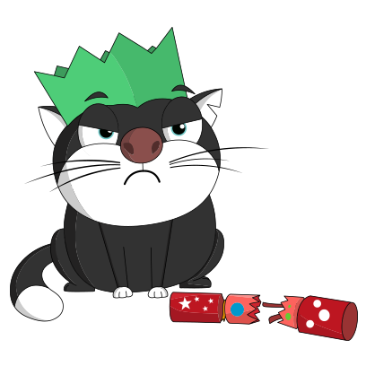 Silly Darn Cat (Christmas) messages sticker-2