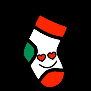 Stocklings: Christmas Stocking Kawaii Emoji messages sticker-7