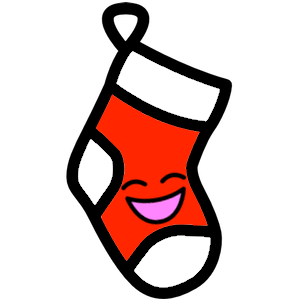 Stocklings: Christmas Stocking Kawaii Emoji messages sticker-2
