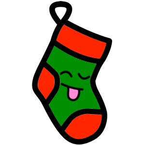 Stocklings: Christmas Stocking Kawaii Emoji messages sticker-1