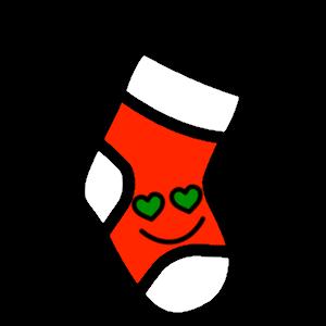 Stocklings: Christmas Stocking Kawaii Emoji messages sticker-6