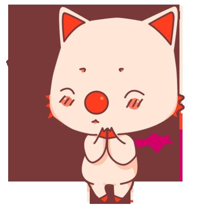 BonBon Bat - cute bat cat messages sticker-3