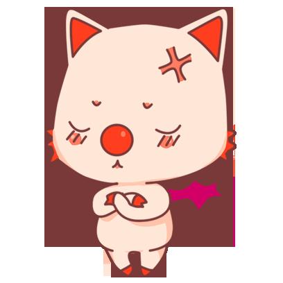 BonBon Bat - cute bat cat messages sticker-11