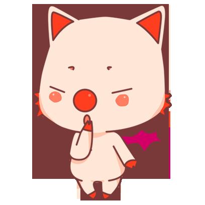 BonBon Bat - cute bat cat messages sticker-10