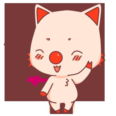 BonBon Bat - cute bat cat messages sticker-9