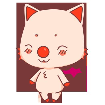 BonBon Bat - cute bat cat messages sticker-1