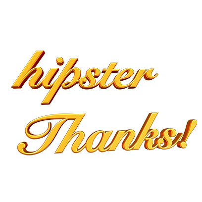 Hipster Thanks messages sticker-1