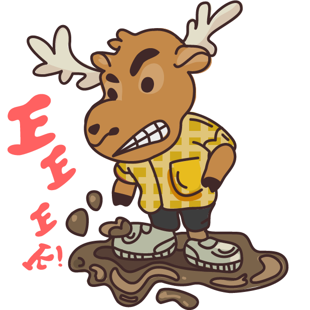 Moose in Shoes messages sticker-1