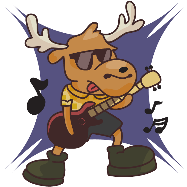 Moose in Shoes messages sticker-3