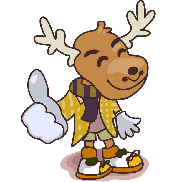 Moose in Shoes messages sticker-0