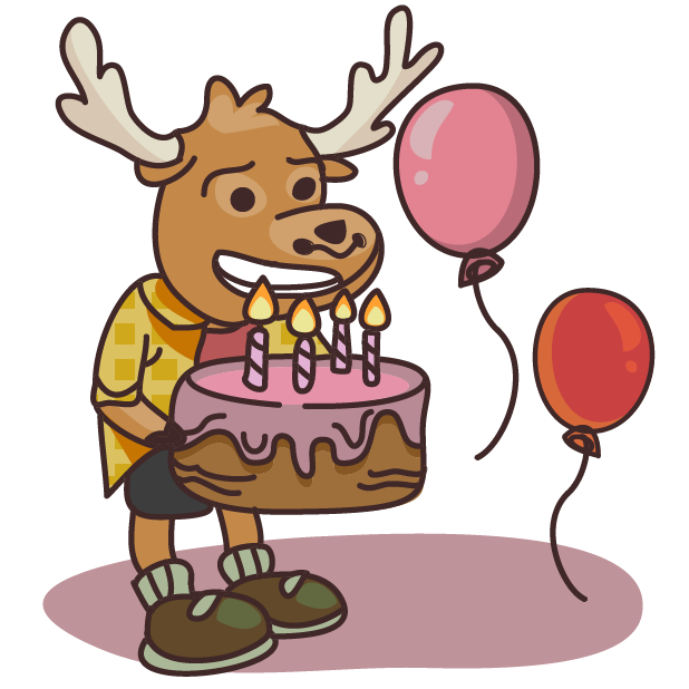 Moose in Shoes messages sticker-5