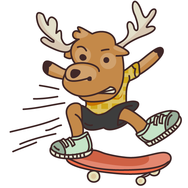 Moose in Shoes messages sticker-4