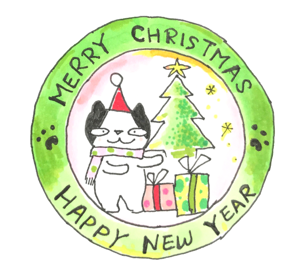 Doodle Funny Stickers Xmas messages sticker-1