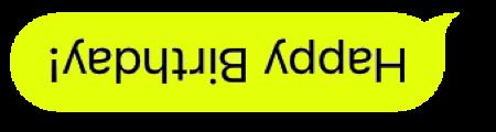 Upside Down Text Bubbles messages sticker-4