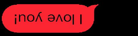 Upside Down Text Bubbles messages sticker-8