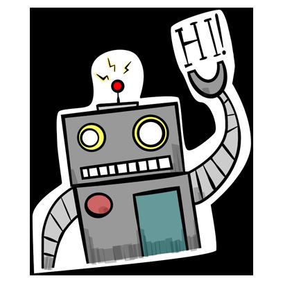 Vintage Robot messages sticker-1