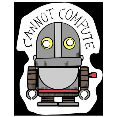 Vintage Robot messages sticker-7