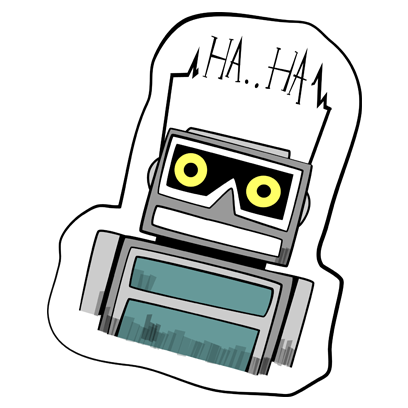 Vintage Robot messages sticker-0