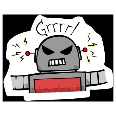 Vintage Robot messages sticker-3