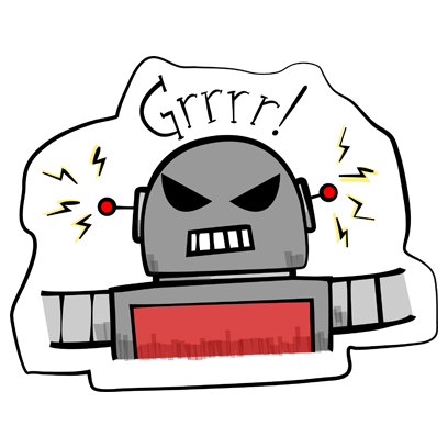 Vintage Robot messages sticker-3