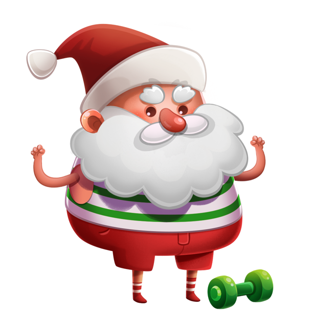 Kind Santa Claus – Christmas stickers for iMessage messages sticker-10