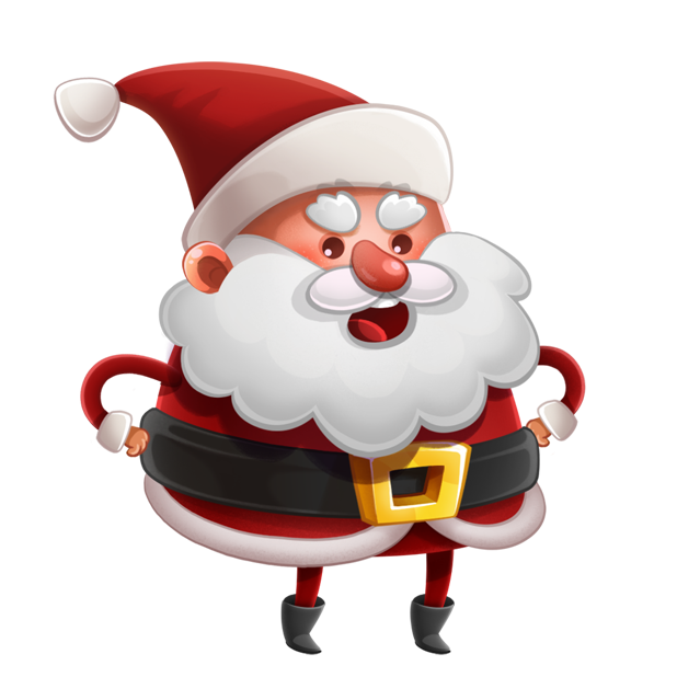 Kind Santa Claus – Christmas stickers for iMessage messages sticker-2