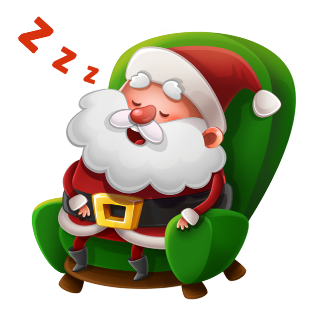 Kind Santa Claus – Christmas stickers for iMessage messages sticker-3