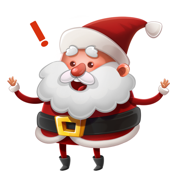 Kind Santa Claus – Christmas stickers for iMessage messages sticker-5