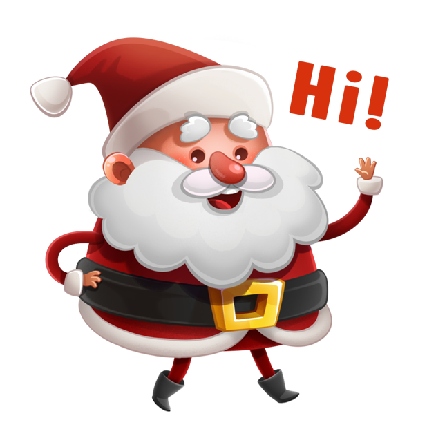 Kind Santa Claus – Christmas stickers for iMessage messages sticker-0