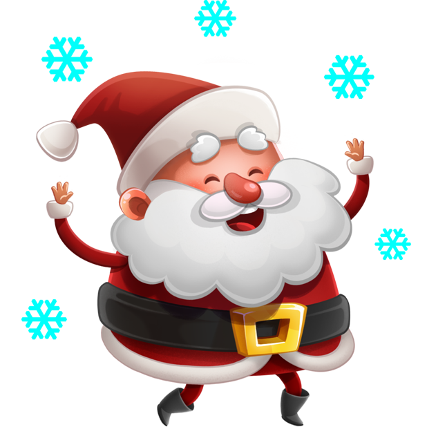 Kind Santa Claus – Christmas stickers for iMessage messages sticker-6
