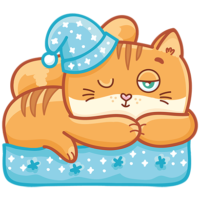 Hosico cat! Cute stickers for iMessage messages sticker-8