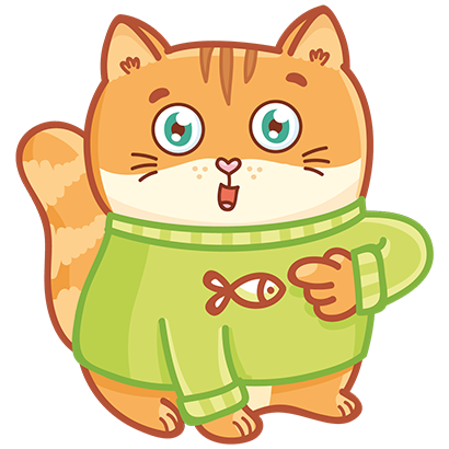 Hosico cat! Cute stickers for iMessage messages sticker-7