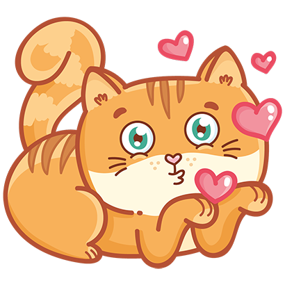 Hosico cat! Cute stickers for iMessage messages sticker-1