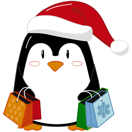 Christmas Penguins 2018 messages sticker-10