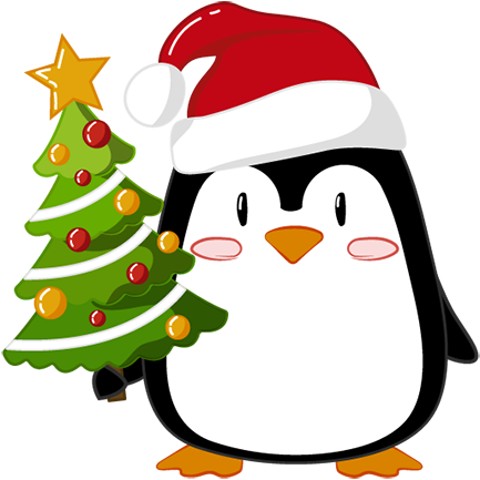 Christmas Penguins 2018 messages sticker-1