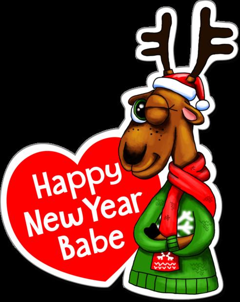 Xmas Reindeer Stickers messages sticker-11