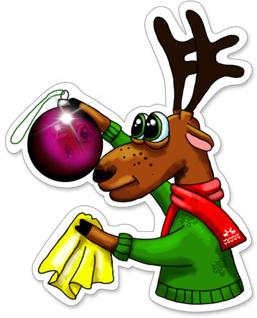 Xmas Reindeer Stickers messages sticker-3